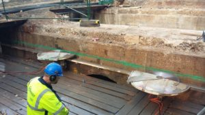 Track Sawing – Ashcombe Road Bridge, Wimbledon, London