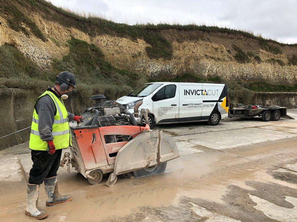 Floor Sawing & Sealant Pointing – Minnis Bay to Greenham Bay