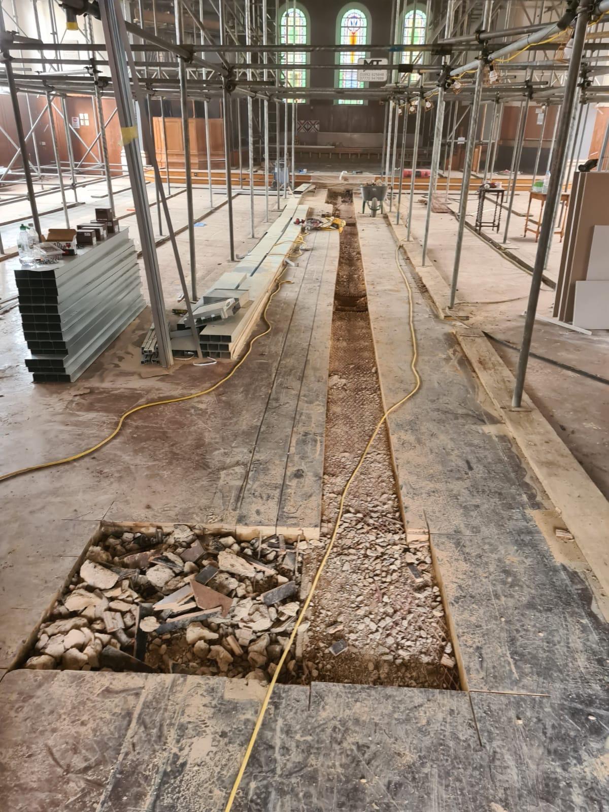 Floor Chasing – Tunbridge Wells Baptist Church